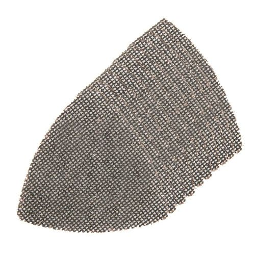 10 Pack Silverline 704346 Hook & Loop Mesh Triangle Sanding Sheets 95mm 80 Grit